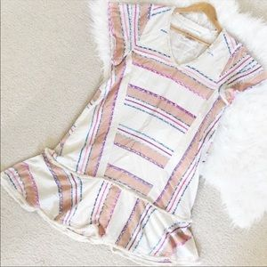 Holding Horses Anthropologie Elira Striped Dress S